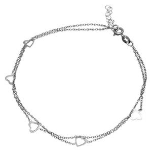 Sterling Silver White Gold CZ Turquoise Bracelet